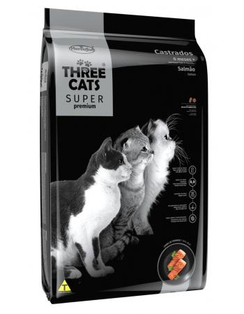 THREE CATS CASTRADO SALMAO 10,1KG